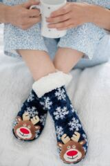SockShop 1 Pair Plush Christmas Slipper Socks Leading Image