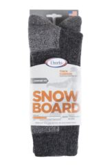 Mens and Ladies 1 Pair Thorlos Snow Board Thick Cushion Socks With Thorwick Packaging Image