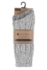 Ladies 2 Pair SockShop Ribbed Wool Boot Socks with Smooth Toe Seams Packaging Image