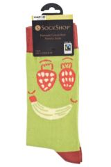 Mens 1 Pair SockShop CAFOD Fairtrade Cotton Fruit Face Socks Packaging Image