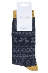 Mens 1 Pair Thought Noel Fair Isle Bamboo and Organic Cotton Socks Product Shot
