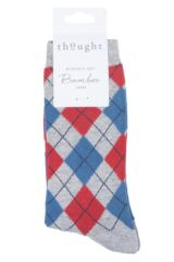 Mens 1 Pair Thought Mckinnon Argyle Bamboo and Organic Cotton Socks Packaging Image