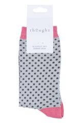 Ladies 1 Pair Thought Wren Small Dots Bamboo and Organic Cotton Socks Packaging Image