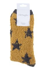 Ladies 1 Pair Thought Ulrika Fluffy Stars Recycled Polyester Socks Packaging Image