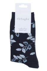 Ladies 1 Pair Thought Larkin Floral Bamboo and Organic Cotton Socks Packaging Image