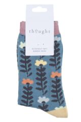 Ladies 1 Pair Thought Lore Floral Bamboo and Organic Cotton Socks Packaging Image