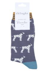 Ladies 1 Pair Thought Dalmatian Bamboo and Organic Cotton Socks Product Shot