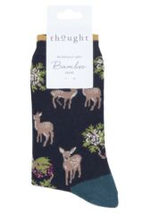 Ladies 1 Pair Thought Renko Bamboo and Organic Cotton Socks Packaging Image