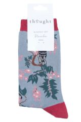 Ladies 1 Pair Thought Love Bird Bamboo and Organic Cotton Socks Packaging Image