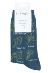 Ladies 1 Pair Thought Herby Bamboo and Organic Cotton Socks Packaging Image