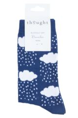 Ladies 1 Pair Thought Rainy Cloud Bamboo and Organic Cotton Socks Packaging Image