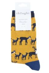 Ladies 1 Pair Thought Animal Kin Bamboo and Organic Cotton Socks Packaging Image