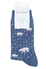 Ladies 1 Pair Thought Arctic Polar Bear Bamboo and Organic Cotton Socks Packaging Image