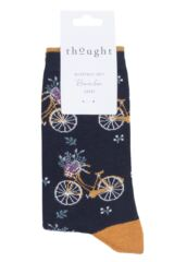 Ladies 1 Pair Thought Bicicletta Bicycle Bamboo and Organic Cotton Socks Packaging Image