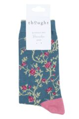 Ladies 1 Pair Thought Floreale Flower Bamboo and Organic Cotton Socks Packaging Image