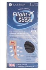 Ladies 1 Pair SockShop Iomi 80 Denier Flight and Travel Socks Packaging Image