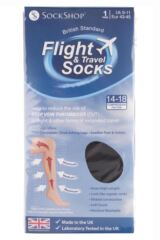 Mens 1 Pair SockShop Iomi 80 Denier Flight and Travel Socks Product Shot
