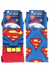 Mens 2 Pair SockShop DC Comics Mix Superman Socks Packaging Image