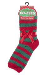 Ladies 1 Pair SOCKSHOP Christmas Novelty Socks Packaging Image
