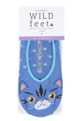 Ladies 2 Pair SockShop Wild Feet Invisible Socks Packaging Image