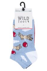 Ladies 3 Pair SockShop Wild Feet Patterned Trainer Socks Product Shot