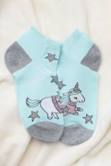 Ladies 3 Pair SockShop Wild Feet Unicorn Jumper Cotton Trainer Socks Leading Image