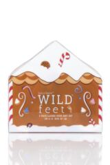 Ladies 3 Pair SockShop Wild Feet Gift Boxed Gingerbread Man Cotton Socks Packaging Image