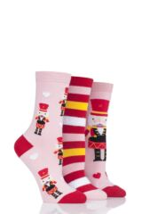 Ladies 3 Pair SockShop Wild Feet Gift Boxed Nutcracker Cotton Socks Leading Image