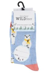 Ladies 3 Pair Sockshop Wild Feet Winter Inspired Patterned Socks Packaging Image