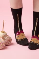 Ladies 3 Pair SOCKSHOP Wild Feet Toffee Apple Novelty Cotton Socks Leading Image