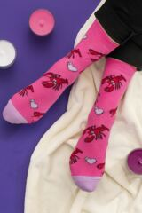 Ladies 3 Pair SOCKSHOP Wild Feet Lobster Love Cotton Socks Leading Image