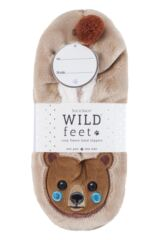 Ladies 1 Pair SOCKSHOP Wild Feet Velvety Fleece Lined Slippers Packaging Image