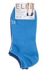 Ladies 3 Pair Elle Sport Mesh Bamboo No Show Socks Product Shot