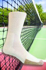 Mens and Ladies 1 Pair Thorlos Tennis Crew Socks with Thick Cushion