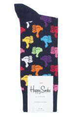 Mens and Ladies 1 Pair Happy Socks Thumbs Up Combed Cotton Socks Packaging Image