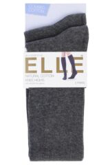 Ladies 2 Pair Elle Plain Cotton Knee Highs Product Shot