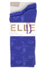 Ladies 2 Pair Elle Floral and Fair Isle Patterned Knee High Socks Packaging Image