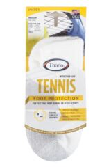 Mens and Ladies 1 Pair Thorlos Tennis Mini Crew Socks with Thick Cushion Packaging Image