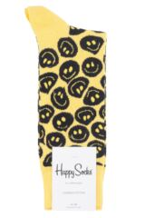 Mens and Ladies 1 Pair Happy Socks Twisted Smile Combed Cotton Socks Packaging Image