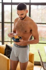 Mens 3 Pack Pringle Button Front Cotton Boxer Shorts Leading Image