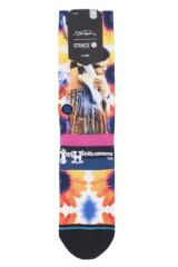 Mens 1 Pair Stance Jimi Hendrix Collaboration Jimi Sunflowers Socks Packaging Image
