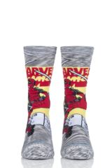 Mens and Ladies 1 Pair Stance Marvel Deadpool Comic Stripe Socks Leading Image