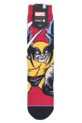 Mens and Ladies 1 Pair Stance X-Men Collaboration Wolverine Cotton Socks Packaging Image