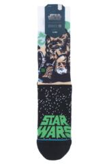 Mens and Ladies 1 Pair Stance Star Wars Collaboration Chewbacca Cotton Socks Packaging Image
