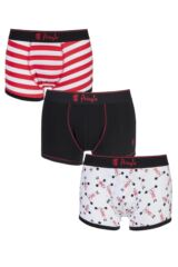 Mens 3 Pack Pringle Richard Weight Lifters, Plain and Striped Boxer Shorts