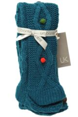 Ladies 1 Pair Urban Knit Mixed Textured Slipper Socks Non Slip With Bobbles 25% OFF This Style Product Shot