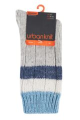 Ladies 1 Pair Urban Knit Shimmer Stripe Wool Boot Socks Product Shot