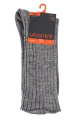 Mens 1 Pair Urban Knit Made In The UK Swift Ribbed Virgin Wool Boot Socks Product Shot