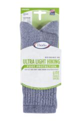 Mens and Ladies 1 Pair Thorlos Ultra Light Hiker Crew Socks Packaging Image