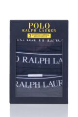 Mens 3 Pack Ralph Lauren Plain Cotton Stretch Longer Leg Boxer Briefs Packaging Image